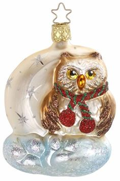 INGE GLASS Collection Old World Christmas 2000 Special Event Snowman Ornament