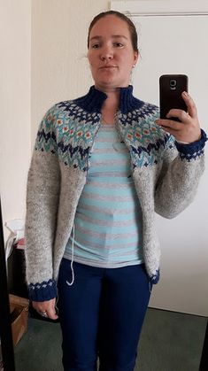 Riddari pattern by Védís Jónsdóttir Icelandic Sweaters, Fair Isles, Fair Isle Knitting, Knitting Stitches, Ravelry, Knit Crochet, My Favorite Things, Pattern, Fashion