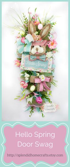 This takes you Etsy where you can order this for $129.  I'm pinning to give me an idea of what I might make instead of a wreath on the front door.