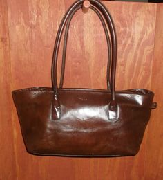 Tosca blu brown leather slouchy tote bag made in italy efb56f34717f2