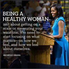 """""""Exercise is really important to me - it's therapeutic. So if I'm ever feeling tense or stressed or like I'm about to have a meltdown, I'll put on my iPod and head to the gym or out on a bike ride along Lake Michigan with the girls.""""   ~Michelle Obama   Via Black Women Do Workout"""