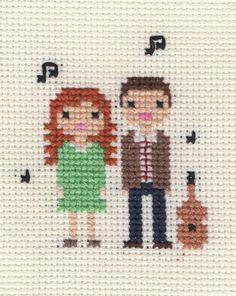 Family Custom Pixel Cross Stitch Portrait by ScarletPyjamas, £21.00