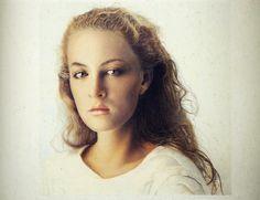 Franz Gertsch, Johanna I, 1984 Franz Gertsch, Artsy Fartsy, Fine Art, Illustration, Artwork, Photography, Museum, Paintings, Artists