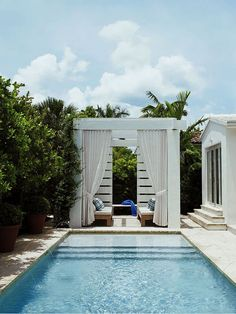 A day relaxing by a private pool.