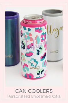 Planning your big day? Don't forget to thank your bridesmaids with the perfect gift! These personalized skinny can coolers will keep their drink cold hours as you celebrate your bachelorette weekend, or wedding day! A great gift idea for you backyard wedding, beach wedding, or summer girl's getaway! bachelorette favors, bridesmaid gifts, personalized bridesmaid gift, wedding ideas, bachelorette party ideas, backyard wedding Bridesmaid Makeup Bag, Bridesmaid Gift Bags, Bridesmaid Gifts Unique, Bridesmaids, Wedding Beach, Gift Wedding, Wedding Ideas, Bachelorette Party Supplies, Bachelorette Weekend