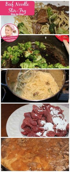 Quick and easy weeknight dinner the family will lov… Beef Noodle Stir Fry, Beef And Noodles, Easy Weeknight Dinners, Quick Meals, A Slob Comes Clean, Stir Fry Recipes, Beef Recipes, Homemade Soup, Main Dishes