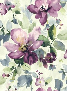 Watercolor flowers// flores a acuarela Motif Floral, Arte Floral, Floral Prints, Floral Texture, Pattern Vegetal, Watercolor Flowers, Watercolor Paintings, Painting Flowers, Watercolours
