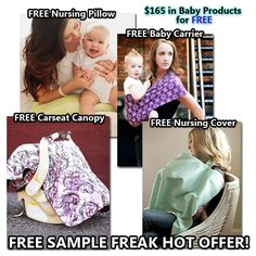 FREE Nursing Cover, Nursing Pillow, Carseat Canopy & Baby Carrier! 4 FREE Baby Offers!