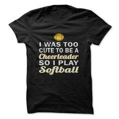 Cute Cheerleader Softball #tee #fashion. ORDER HERE  => https://www.sunfrog.com/Sports/Cute-Cheerleader-Softball.html?id=60505