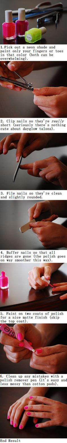 quick and easy at home manicure