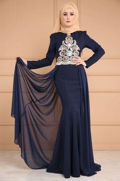 ** YENİ ÜRÜN ** Şifon Kuyruklu Balık Abiye  Laci Ürün kodu: YGS6036--> 189.90 TL Muslim Dress, Hijab Dress, Hijab Outfit, Modest Dresses, Bridal Dresses, Party Gowns, Party Dress, Hijab Fashion, Fashion Outfits