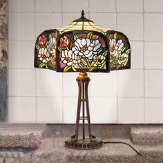 Lampe à poser Prim style Tiffany 1032241