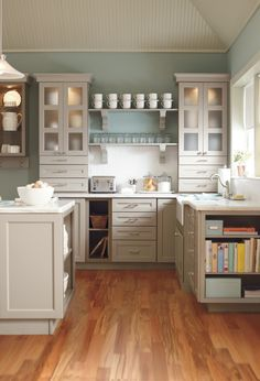 Gray cabinets are a refreshing way to update any kitchen. #kitchen #organization