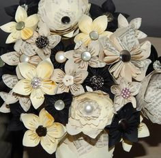 Origami paper flowers bouquet table decorations bespoke handmade origami paper flowers bouquet table decorations bespoke handmade wedding bling bridal facebook junglespirit Image collections