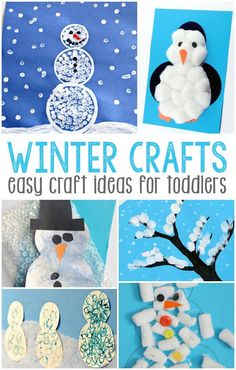 87 Exciting Winter Crafts For Toddlers Images Christmas Crafts