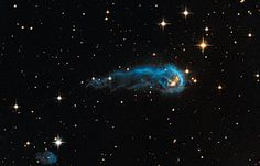 #Hubble sees a cosmic caterpillar: The culprits are 65 of the hottest, brightest known stars, classified as O-type stars, located 15 light-years away from the knot, towards the right edge of the image. These stars, along with 500 less bright, but still highly luminous, B-type stars make up what is called the #Cygnus OB2 association. Collectively, the association is thought to have a mass more than 30 000 times that of our Sun.