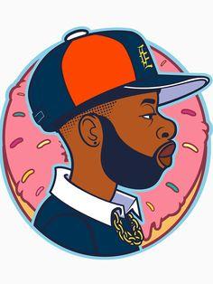 J Dilla - Jay Dee illustration art - hip hop - rapper - detroit - usa Arte Hip Hop, Hip Hop Art, Cartoon Drawings, Cartoon Art, Character Illustration, Illustration Art, J Dilla, Black Anime Characters, Graffiti Drawing