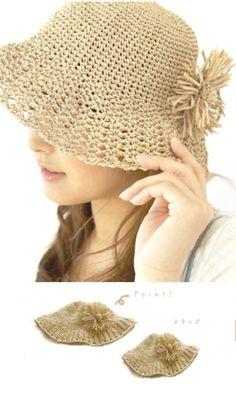 Pour se protéger du soleil   un petit chapeau au crochet! - La Malle ... 589eb5e3753