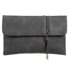 Grey faux leather clutch bag The bag fastens with a flap over the top and a concealed metal magnetic stud Measurements approx 12 inches / 30 cm wide Leather Clutch Bags, Pashmina Wrap, Prom Accessories, Free Uk, Shoulder Bag, Handbags, Gray