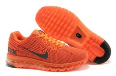 New Air Max 2013 Running Shoes For Men Orange..more want to see the page :http://triathlonomatic.com/top-10-best-running-shoes-for-men-in-2014/