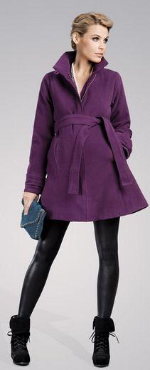 Cake violet jacket, płaszczyk ciążowy