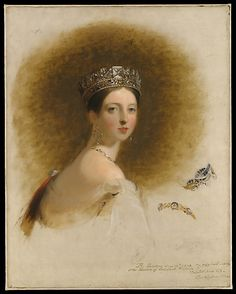 Queen Victoria (Alexandrina Victoria) (24 May 1819-22 Jan 1901) UK by Thomas Sulley. Child of Prince Edward Augustus (1767-1820) Duke of Kent, UK & Princess Victoria (1786-1861) Saxe-Coburg, Germany. Wife of Prince Albert (Albert Francis Charles Augustus Emmanuel) (26 Aug 1819-14 Dec 1861) Saxe-Coburg & Gotha, Germany. Her father died when she was age 1 & her mother kept her from her uncles George & William. She came to the throne age 18 in 1838 after the death of her uncle William IV.