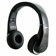 Auriculares bluetooth con funciones de control para reproducción, pausa, pista anterior y siguiente, y volumen.  Micrófono incorporado para conversación manos libres mediante tu móvil.