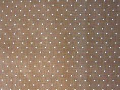 Polka Dots Fabric  Tan on Brown  Marcus Cotton  by SewMeNowFabrics, $3.00