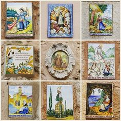 """Santa Catalina Tomás (popularly called """"Sa Beateta"""") was born in Valldemossa in 1531 she's known for performing several miracles along her life. She is the most venerated person in town and possibly in all Majorca, proof of which are the tiles used on the doors of houses all over the village since 1962.@kittykatfisch thank you so much 4 your gorgeous collage showing most of them! #valldemossa #mallorca #igers #igersmallorca #photooftheday #picoftheday #travel #travelgram #streetstyle…"""
