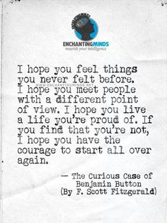 The Curious Case of Benjamin Button quote.