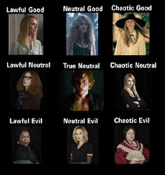 American Horror Story Coven Alignment Chart by alefolla (I think Queenie Should be True Neutral and Kyle should be chaotic neutral. Madison was pure evil). American Horror Story Asylum, American Horror Story Quotes, American Horror Story Seasons, Movies Showing, Movies And Tv Shows, Anthology Series, Evan Peters, Series Movies, Horror Stories