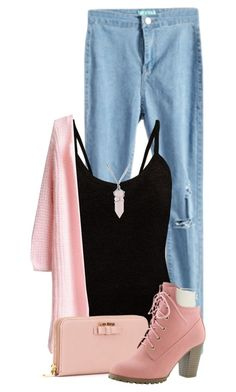 """""""Pink Star"""" by drakona ❤ liked on Polyvore featuring мода, Miu Miu, Bling Jewelry и beautifulhalo"""