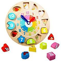 Wooden Animal Digital Shape Sorting. ** You can get additional details at the image link. (This is an affiliate link) #TeachingClocks