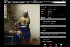 Europeana releases first free iPad app with works from Europe's top institutions Art Quiz, Garden Of Earthly Delights, Art Articles, Art Series, First Art, Design Museum, Selling Art, New Art, The Creator
