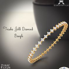 Every morning should be this beautiful. #diamond #bangle #diamondbangle #goldbangle #bangleonlineshopping #diamondjewellery