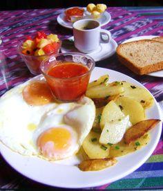 Huevos Rancheros Especial at the Cafe Condesa........Antigua, Guatemala 2010