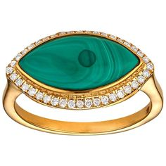 For Sale on - A marquise cut Malachite framed in a halo of diamonds set horizontally, East-West in yellow gold. Each piece of jewelry is handmade to order for you. Garnet And Diamond Ring, Halo Diamond, Diamond Jewelry, Pearl Jewelry, Marquise Ring, Marquise Cut, Malachite Jewelry, Victorian Jewelry, Fine Jewelry