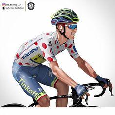 Rafal Majka #RafałMajka #tinkoff #tdf #tourdefrance #polkadot #poland #polish #borahansgrohe  #saxobank #tinkoffbank #oakleybike #olympicbronze #climber #specializedbikes #cycling #cyclingphoto #pencilsketch #illustration #KOM
