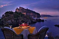 The most beautiful restaurant I have ever been to. ( Il Giardino, Ischia, Italy)