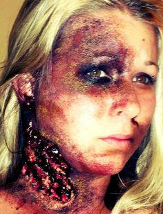 Halloween makeup. So much fun!