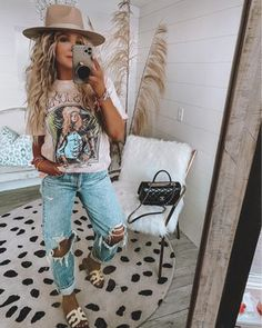 Country Style Outfits, Southern Outfits, Mode Outfits, Fall Outfits, Fashion Outfits, Looks Country, Western Outfits Women, Look Boho, Western Wear