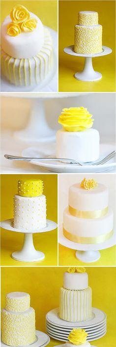 yellow + cakes = love. http://girlyinspiration.com/