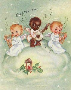 Cat Christmas Cards, Vintage Christmas Cards, Christmas Angels, Vintage Cards, Kids Christmas, Santa Express, Pop Up Greeting Cards, Xmas Greetings, Cherub