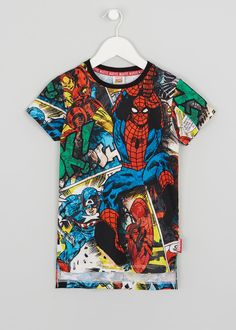 67e425dec31e3 Boys Avengers Comic T-Shirt (2-11yrs) Avengers Comics, Lego Batman. Matalan