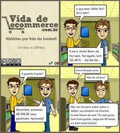 Online contra Offline #ecommerce                                                                                                                                                      Mais