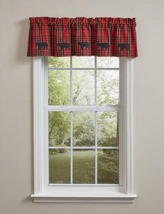 SPORTSMAN PLAID LINED APPLIQUE VALANCE 60X14 Chair Pads, Valance Curtains, Applique, Plaid, Design, Home Decor, Products, Gingham, Decoration Home
