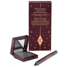 Charlotte Tilbury Nocturnal Cat Eyes To Hypnotise ($36) ❤ liked on Polyvore featuring beauty products, makeup, eye makeup, liquid eye liner, liquid eyeliner, eye pencil makeup and pencil eyeliner
