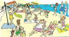 Qué están haciendo en la playa? present progressive presente progresivo
