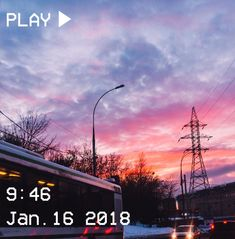 M O O O N V E I N S 1 0 1 #vhs #aesthetic #sunset #train #sky #pink #blue #trees