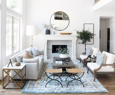 This Irvine Home Gets a Fresh Update with Transitional California Style - HAVEN My Living Room, Home And Living, Living Room Decor, Living Spaces, Modern Living, California Style, Living Room Inspiration, Home Decor Styles, Decoration